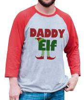 7 ate 9 Apparel Mens Daddy Elf Christmas Raglan