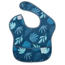 Bumkins SuperBib, Baby Bib, Waterproof, Washable, Stain and Odor Resistant, 6-24 Months, Blue Tropic