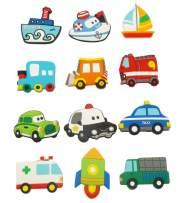 12 Pcs/lot Little Car Fridge Magnets Automobile Fridge Magnet Classical Car Refrigerator Magnets Home Decoration Children Early Education