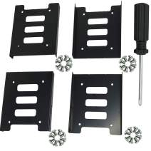 TIHOOD 4PCS 2.5 to 3.5 SSD HDD Hard Disk Drive Bays Holder Metal Mounting Bracket Adapter with Screws for PC SSD