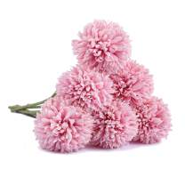 LUSHIDI 6Pcs Artificial Hydrangea Silk Flowers for Home Garden Party Wedding Decoration(Deep Pink)