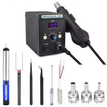 Hot Air Rework Station Kit with Heating Core Replacement, Digital Display Heat Gun SMD Rework Station for BGA IC Desoldering Tool 700W 500°C DBL858D-US