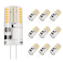 Bogao G4 LED Bulb, 3W Bi-Pin LED Light Bulb, 48×3014 SMD 20W Halogen Bulb Equivalent, Silicone Coated Shatterproof 220 Lumens 360° Beam Angle AC/DC 12V 3500K- Warm White 10 Pack