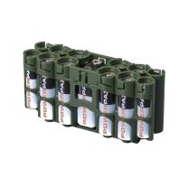 Storacell by Powerpax A9 Multi-Pack Battery Caddy, Military Green