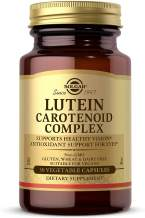Solgar Lutein Carotenoid Complex, 30 Vegetable Capsules - Supports Healthy Vision - Antioxidant Support For Eyes - Gluten Free, Dairy Free, Kosher - 30 Servings