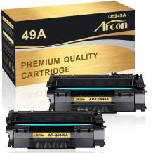 Arcon Compatible Toner Cartridge Replacement for HP 49A Q5949A HP 49X Q5949X for HP Laserjet 1320 1320N 3390 1320TN 1320NW P2015 P2015DN 3392 HP Laserjet MFP M2727nfs M2727 Printer Ink (Black, 2-Pack)
