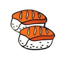 Real Sic Sushi Enamel Pin Kawaii Sashimi Emoji Lapel Pin - Super Cute Food Pin for Backpacks, Jackets, Bags, Hats & Tops