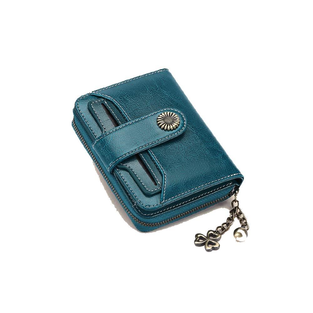 Womens Rfid Blocking Small Compact Bifold Luxury Genuine Leather Pocket Wallet Ladies Mini Purse with ID Window