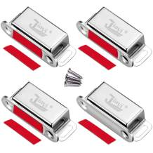 Cabinet Magnetic Catch Jiayi 4 Pack Magnetic Closures for Cabinet Door Magnetic Cabinet Catch RV Drawer Latches and Catches Stainless Steel Magnetic Latch for Kitchen Closet Cupboard Closer