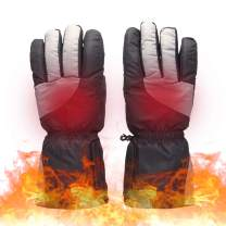 Lixada Electric Heated Gloves Battery Powered Touchscreen Thermal Heat Gloves,Electric Heated Ski Bike Motorcycle Warm Gloves Hand Warmers,Winter Thermo Gloves(No Battery Included)