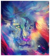 Mobicus 5D DIY Full Diamond Diamond Painting,Living Room Decorative Wall Stickers Wallpaper, Lion(35X35CM/14X14inch)