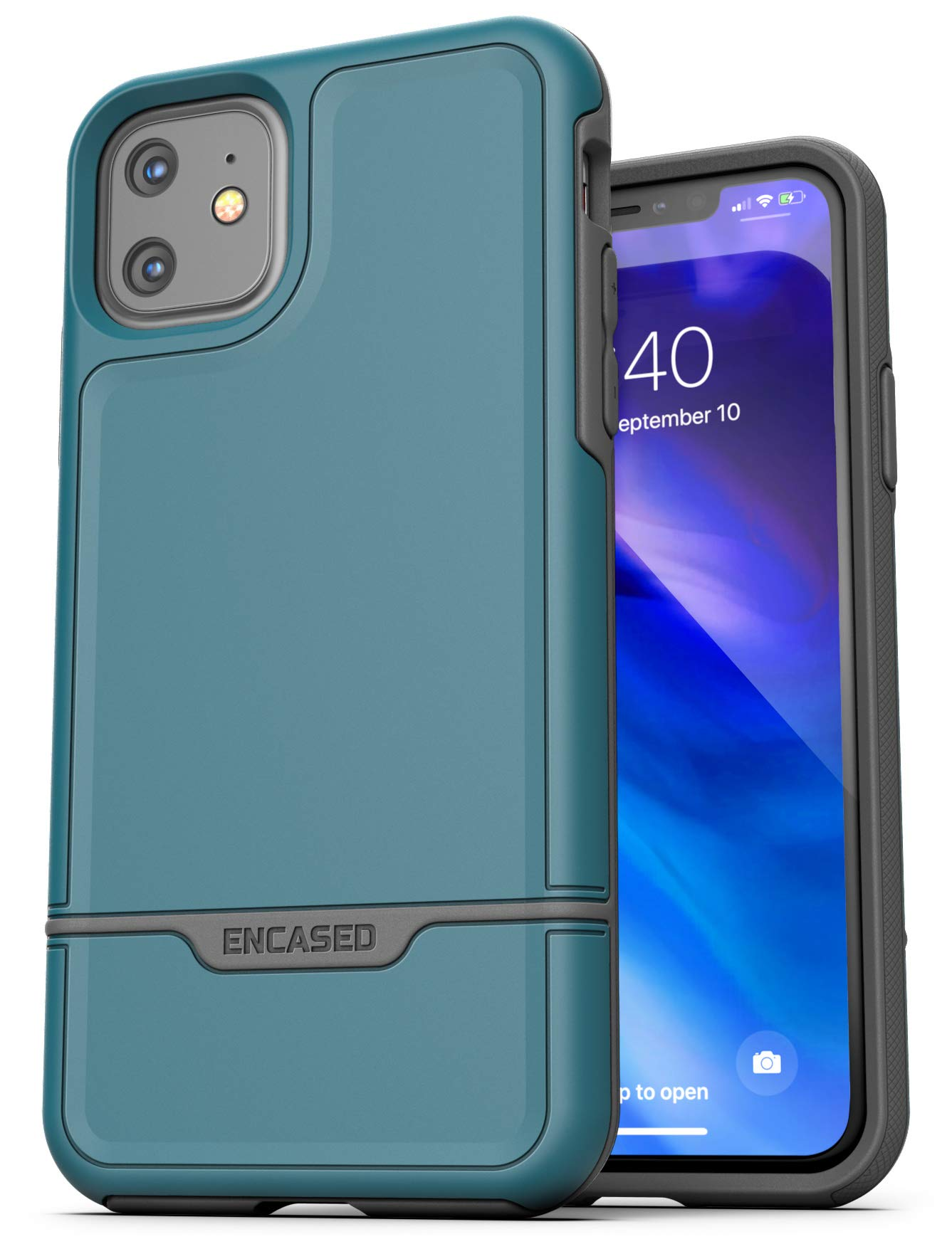 Encased Heavy Duty iPhone 11 Protective Case (2019 Rebel Armor) Military Grade Full Body Rugged Cover (Turquoise Blue)