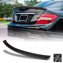 AeroBon Real Carbon Fiber Trunk Spoiler Compatible with Mercedes 2007-14 W204 C-Class Sedan, VT Style