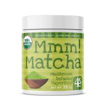 Mmm! Matcha Superfood Powder with Lions Mane Mushroom - Ceremonial Grade Green Tea Powder for Energy, Focus and Antioxidant Rich – Cognitive and Nootropic Supplement –20oz 30 Servings