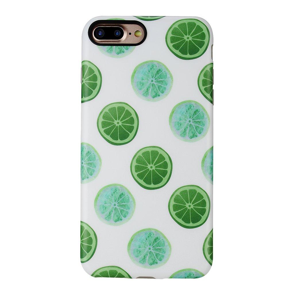 iPhone 8 Plus Case for Girls/iPhone 7 Plus Summer Case,GOLINK Summer Series Slim-Fit Ultra-Thin Anti-Scratch Shock Proof Dust Proof Anti-Finger Print TPU Gel Case for iPhone 7/8 Plus-Lemon