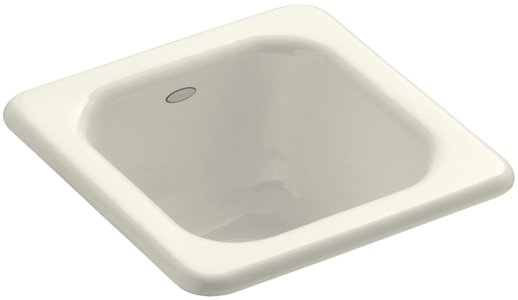 KOHLER K-6552-96 Addison Self-Rimming Entertainment Sink, Biscuit