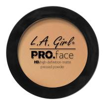 L.A. Girl Pro Face HD Matte Pressed Powder, Medium Beige, 0.25 Ounce (Pack of 3)