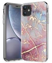 SPEVERT iPhone 11 Case 6.1 inches, Marble Pattern Hybrid Hard Back Soft TPU Raised Edge Ultra-Thin Shock Absorption Slim Case Compatible for iPhone 11 6.1 inch 2019 Released - Colorful