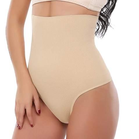 US Women Seamless Shaping Bodysuit Deep V Cross-Front Smooth Girdle Body Shaper