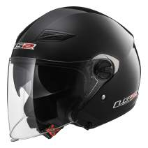 LS2 Helmets Open Face Track Helmet (Gloss Black - X-Large)