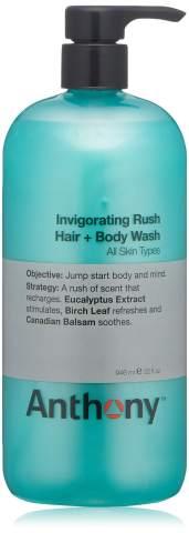 Anthony Invigorating Rush Hair and Body Wash, 32 Fl Oz