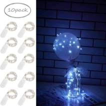 10 Pack Fairy Lights Battery Operated 6.6ft 20 Led Mini String Lights Silver Wire Starry Lights for DIY Wedding Party Festival Halloween Christmas (Cool White)