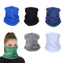 Sun UV Protection Neck Gaiter Washable Reusable Face Cover Dust Wind Bandana Balaclava Headwear for Women and Men