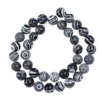Natural Stone Beads 10mm Black White Peacock Stone Round Loose Beads Crystal Energy Stone Healing Power for Jewelry Making DIY,1 Strand 15""