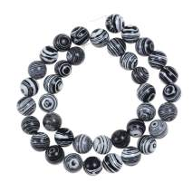 """Natural Stone Beads 10mm Black White Peacock Stone Round Loose Beads Crystal Energy Stone Healing Power for Jewelry Making DIY,1 Strand 15"""""""