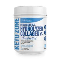 Dr. Colbert's Divine Health Keto Zone Hydrolyzed Type I, II, III Chicken Plus Marine Collagen Powder (Unflavored) Non-GMO, Supports Healthy Skin and Joints formulated by Dr. Don Colbert MD,20.74 Oz