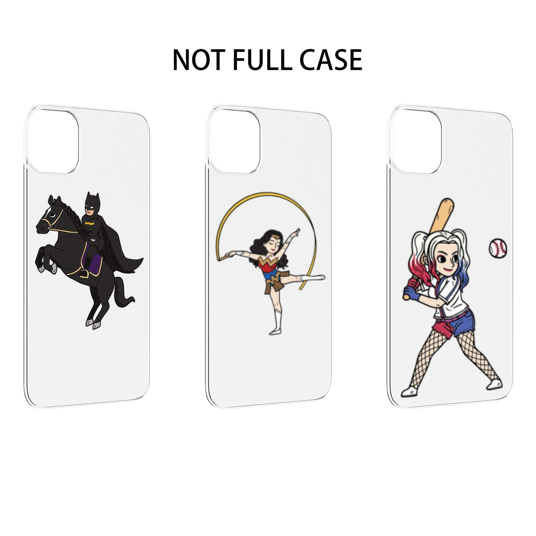 PICAVINCI Supplement Design (Not Full Case), Superhero Batman Wonder Woman Harley Quinn Set for iPhone 11