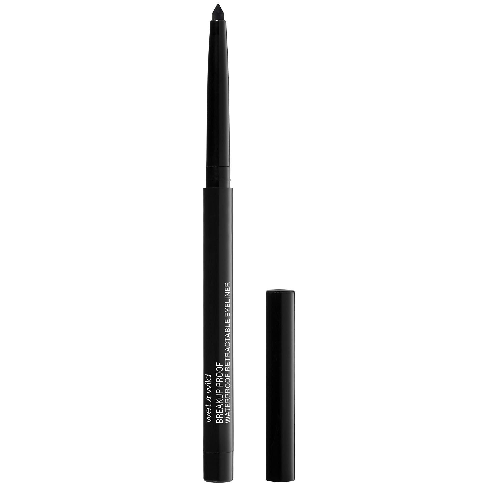 wet n wild Mega last breakup-proof retractable eyeliner, Blackest Black, 0.01 Ounce