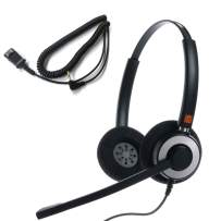 IPD IPH-165 Binaural NC Headset with 2.5mm Jack for Polycom IP 320,321,330, Cisco SPA,Grandstream GXP,Panasonic KX, Zultys, Gigaset & 2.5mm Jack(3 Poles) Port with Phones. No Smart Phone use
