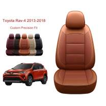 OASIS AUTO 2013-2018 Rav-4 Custom Fit PU Leather Seat Cover Compatible with 2013-2014-2015-2016-2017-2018 Rav4 Non-Hybrid (2013-2018 RAV-4, Orange)