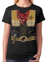 TeeStars - Cowboy Halloween Easy Costume Outfit Women T-Shirt