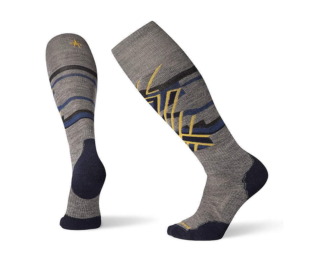 Smartwool PhD Outdoor Light Crew Socks - Men's Ski Medium Pattern Wool Performance Sock