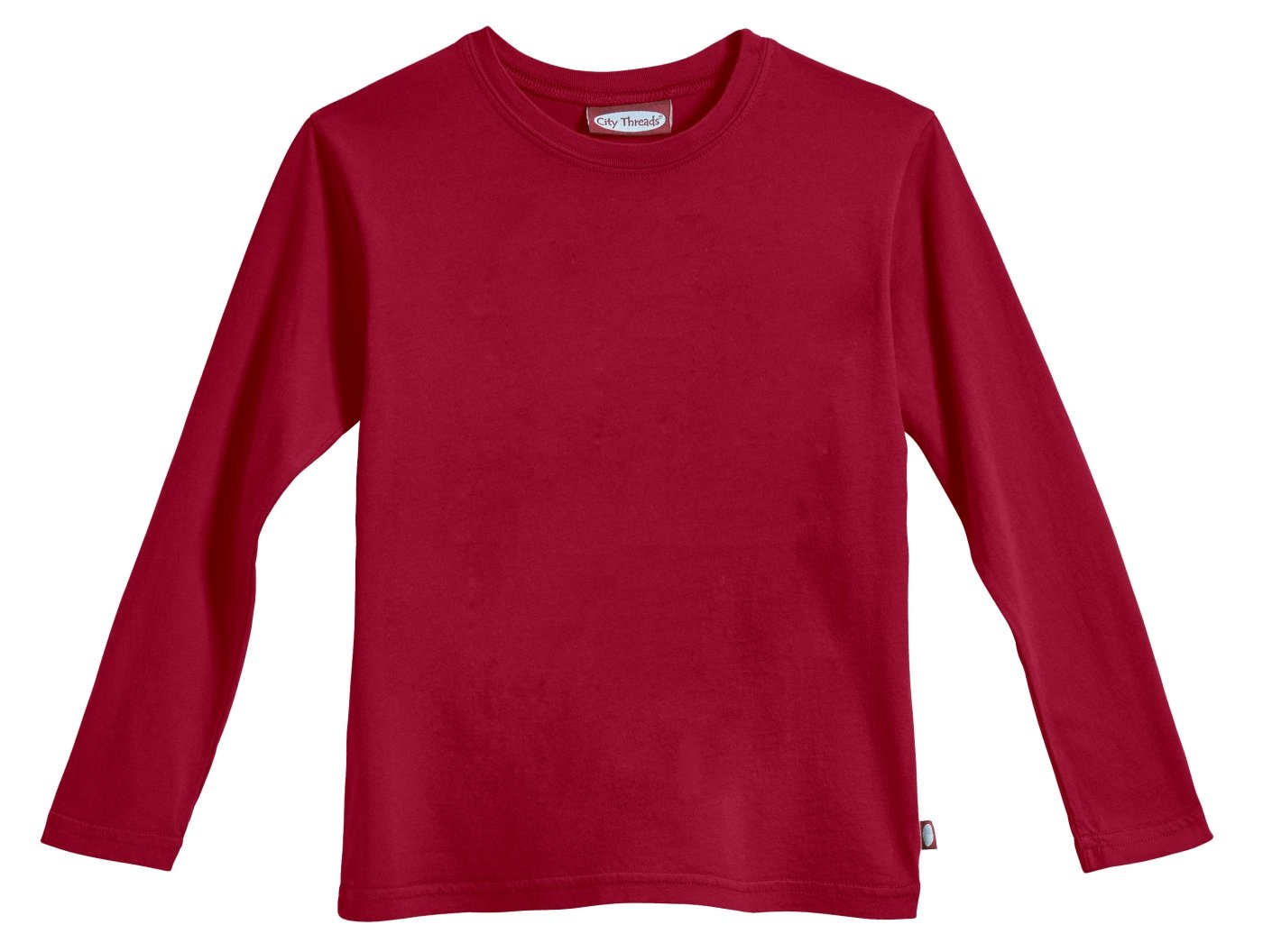 City Threads Boys' Long Sleeve Tee Tshirt in 100% Soft Cotton - Base Layer - Made in USA