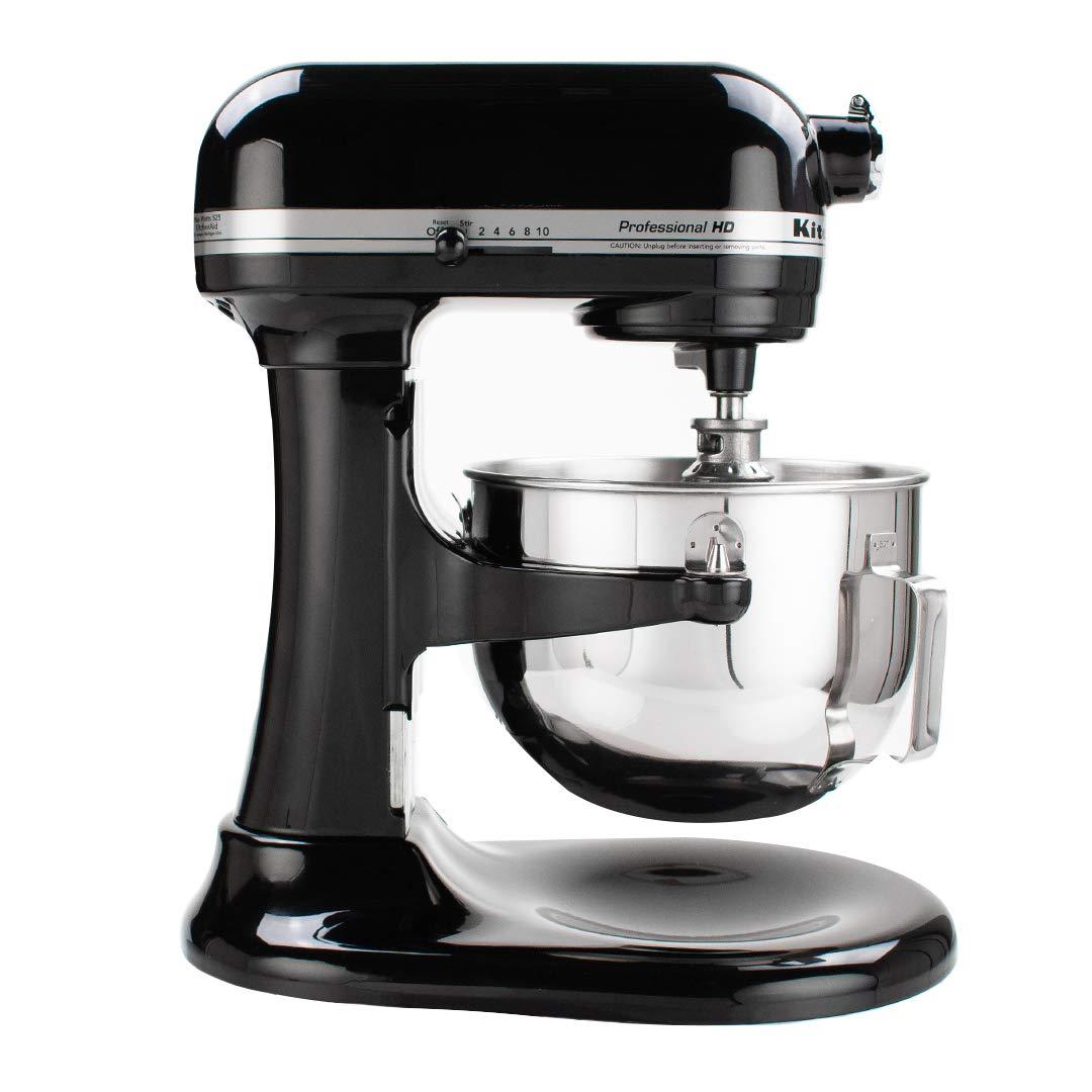 KitchenAid KG25H0XOB Professional HD Series Stand Mixer, 5 Qt, Onyx Black