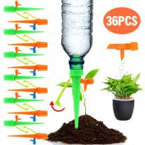 Freehawk Plant Waterer Automatic Self Watering Spikes Self Irrigation Watering System Self Drip Irrigation with Slow Release Control Valve Switch for Potted Plants (36 PCS New)