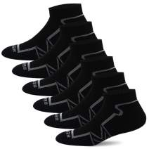 BERING Men's Performance Ankle Running Socks (6 Pack)