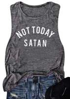 Women Not Today Satan Tank Funny Graphic Casual Sleeveless Tshirt Vest