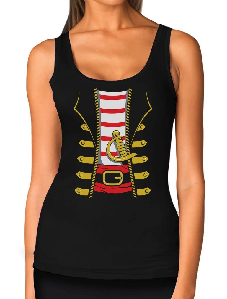 Halloween Pirate Buccaneer Costume Outfit Suit Women Tank Top