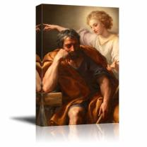 "wall26 - The Dream of St. Joseph by Anton Raphael Mengs - Canvas Print Wall Art Famous Oil Painting Reproduction - 32"" x 48"""