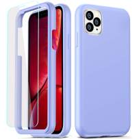 COOLQO Compatible for iPhone 11 Pro Max Case, 360 Full Body Coverage Hard PC+Soft Silicone TPU 3in1 Certified Military Shockproof Phone Protective with [2 x Tempered Glass Screen Protector]-Purple