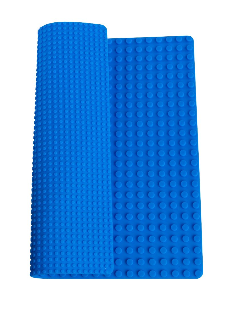 """Classic Blue Double Sided Roll Up Building Mat - 15"""" x 15"""" - 100% Compatible With All Major Brands"""