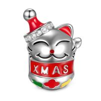 NINAQUEEN Christmas Charms Gifts Lucky Cat 925 Sterling Silver Charms Holiday Santa Claus Charms fit for Necklace, Ideal Gifts for Teen Girls