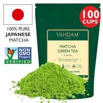 VAHDAM, Matcha Green Tea Powder SUPERFOOD (100 Servings) 100% Pure Authentic Japanese Matcha Powder | Classic Culinary Grade Green Tea Matcha 🍵 137x Anti-OXIDANTS | Matcha Latte Mix & Smoothies