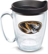 Tervis 1079364 Missouri Tigers Athletic Logo Tumbler with Emblem and Black Lid 16oz Mug, Clear
