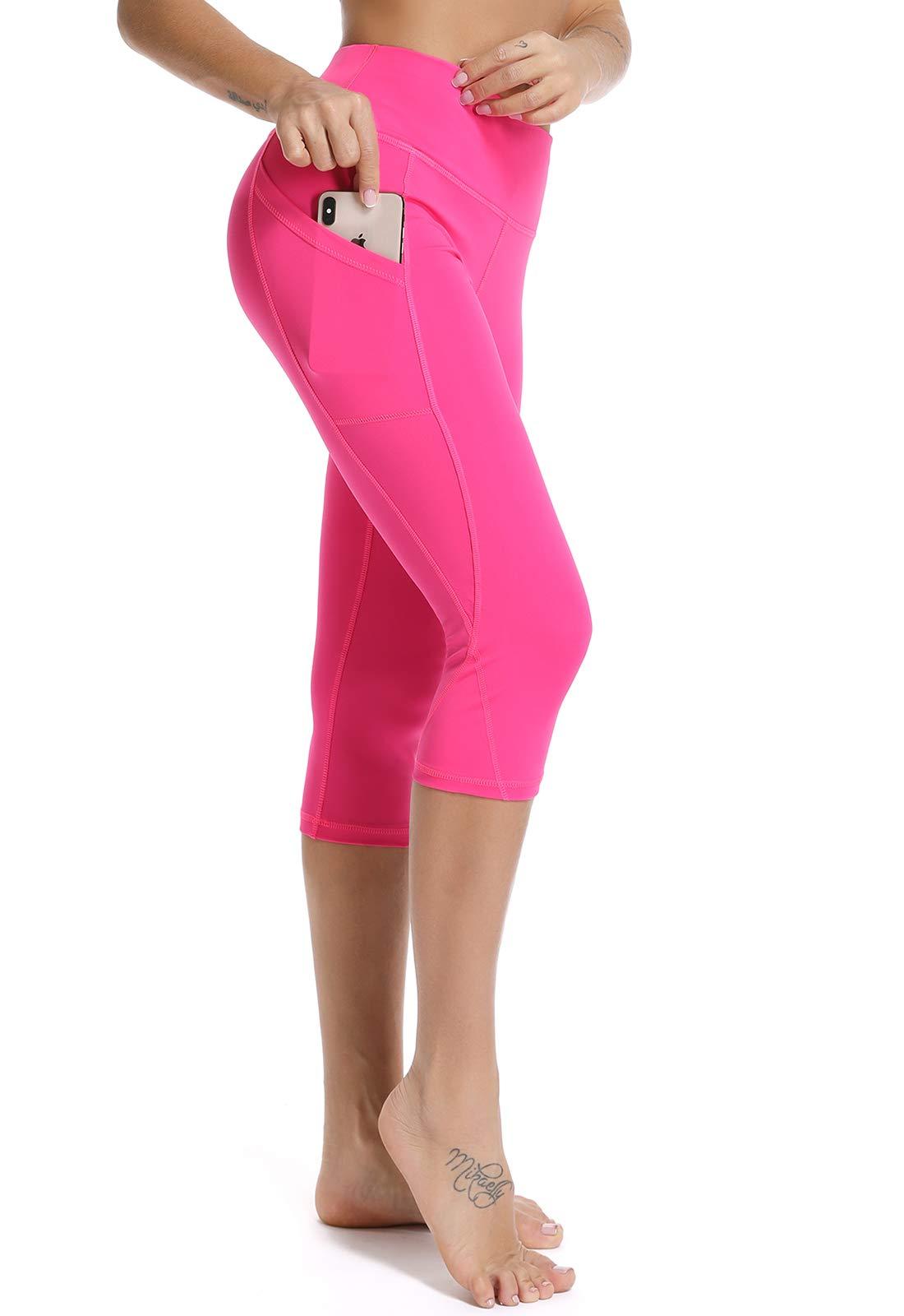 FITTOO Women's Yoga Capris Leggings Pockets Workout Pants
