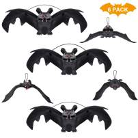 HANPURE Halloween Decoration, Halloween Party Supplies 3D Halloween Bat Decoration Hanging Bat Decorative Scary Bats Halloween Party Favors and Decoration
